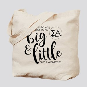 Sigma Alpha Big Little Personalized Tote Bag
