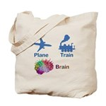 Plane, Train, Brain Tote Bag