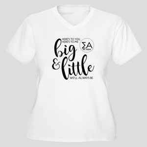 Sigma Alpha Big L Women's Plus Size V-Neck T-Shirt