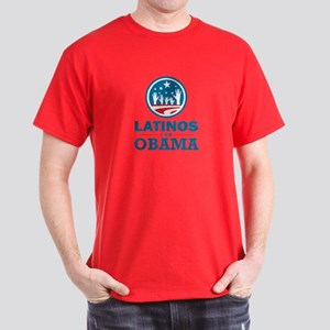 Latinos for Obama Dark T-Shirt