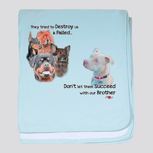 Save the Pitbull baby blanket