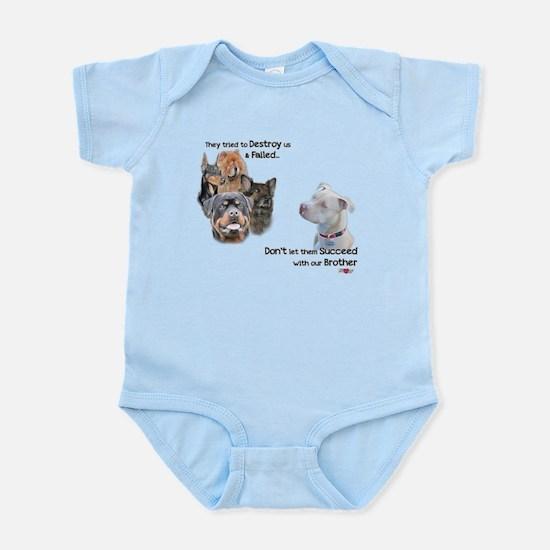 Save the Pitbull Infant Bodysuit