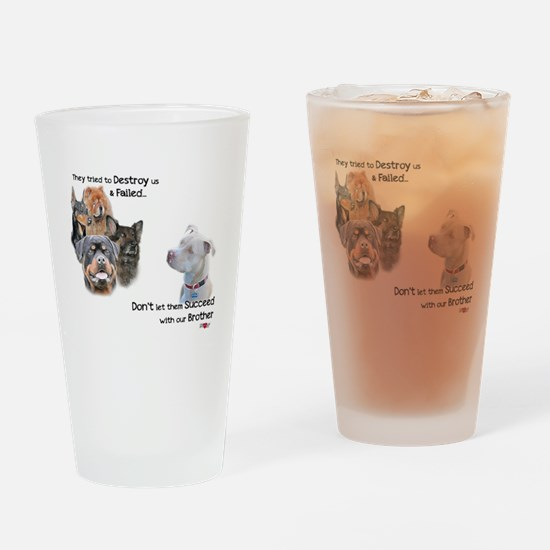 Save the Pitbull Drinking Glass