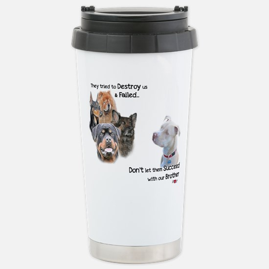 Save the Pitbull Stainless Steel Travel Mug