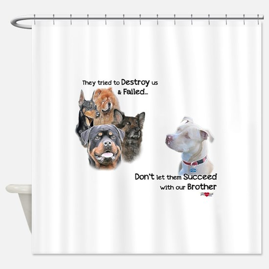 Save the Pitbull Shower Curtain