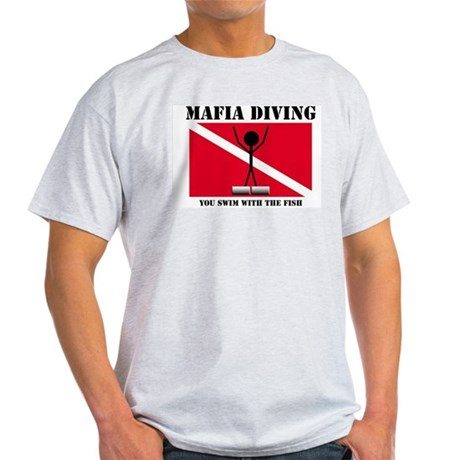 Italian Mafia Mob love diving gifts Ash Grey T-Shi