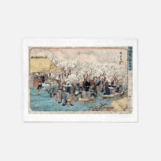 Plum Estate - Kameido - Hiroshige Ando - 1845 5'x7