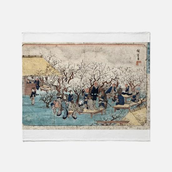 Plum Estate - Kameido - Hiroshige Ando - 1845 Thro