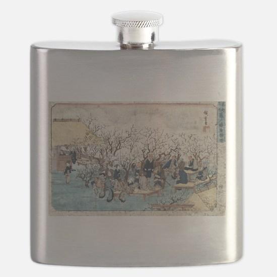 Plum Estate - Kameido - Hiroshige Ando - 1845 Flas