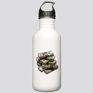 money Stainless Water Bottle 1.0L