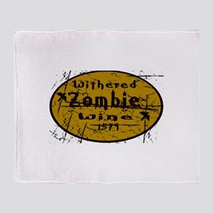 2-Withered Zombie Wine Throw Blanket