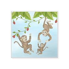 Monkeys Square Sticker 3