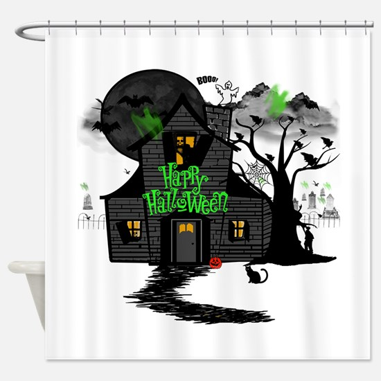 Halloween 2.png Shower Curtain