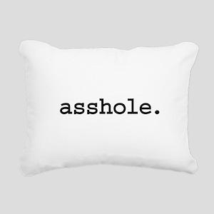 asshole Rectangular Canvas Pillow