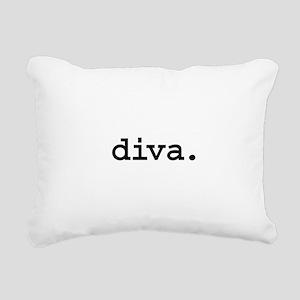 diva Rectangular Canvas Pillow