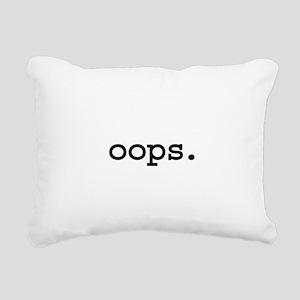 oops Rectangular Canvas Pillow