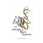 L&C forest on white Sticker (Rectangle 10 pk)