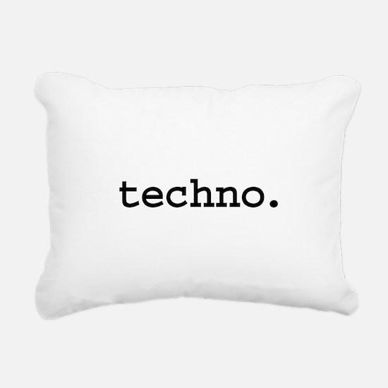 techno.jpg Rectangular Canvas Pillow