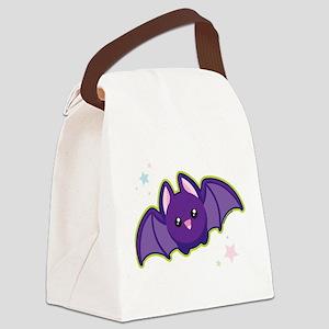 Kawaii Bat Canvas Lunch Bag