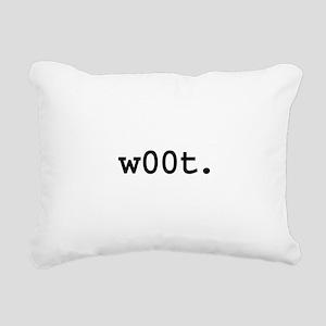 w00t Rectangular Canvas Pillow
