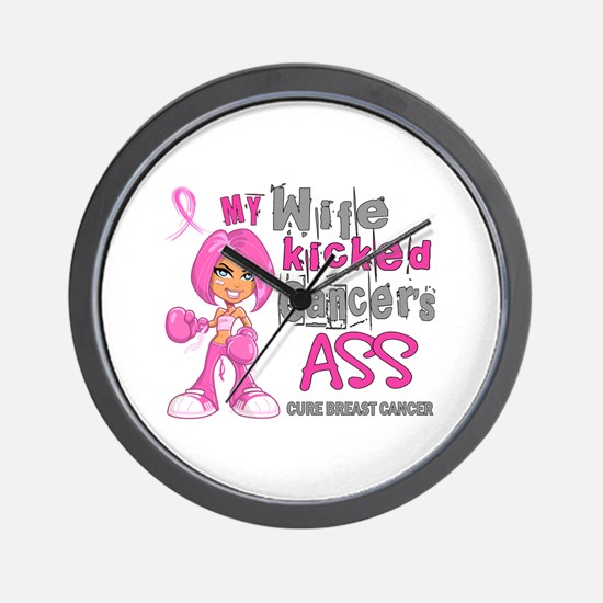 Loved One Kicked Breast Cancer's Ass 42 Wall Clock