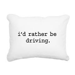 idratherbedrivingblk Rectangular Canvas Pillow