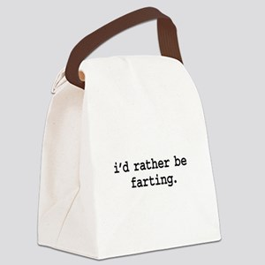 idratherbefartingblk Canvas Lunch Bag