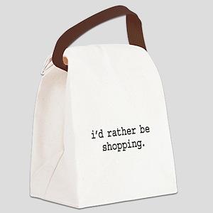idratherbeshoppingblk Canvas Lunch Bag