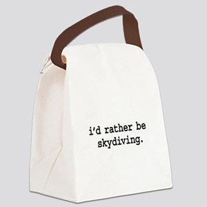idratherbeskydivingblk Canvas Lunch Bag