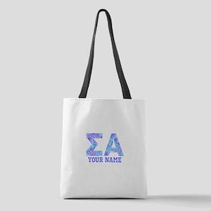 Sigma Alpha Tropical Personaliz Polyester Tote Bag