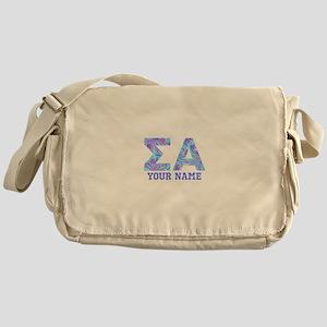 Sigma Alpha Tropical Personalized Messenger Bag