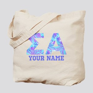 Sigma Alpha Tropical Personalized Tote Bag