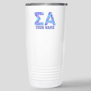Sigma Alpha Tropi 16 oz Stainless Steel Travel Mug