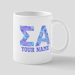Sigma Alpha Tropical Personalize 11 oz Ceramic Mug