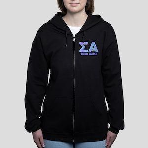 Sigma Alpha Tropical Personaliz Women's Zip Hoodie