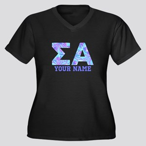 Sigma Alpha Women's Plus Size V-Neck Dark T-Shirt