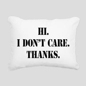 idontcarestencilblk Rectangular Canvas Pillow