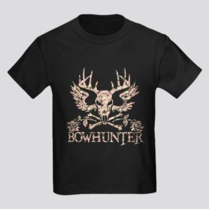 GIRL BOWHUNTER Kids Dark T-Shirt