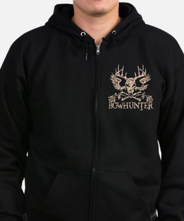 GIRL BOWHUNTER Zip Hoodie (dark)