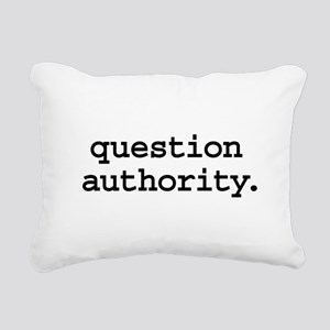 questionauthorityblk Rectangular Canvas Pillow