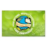 Earth Day Rectangle Car  Sticker (Rectangle 10 pk)