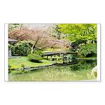 Cherry Blossom Bridge Sticker (Rectangle 10 pk)