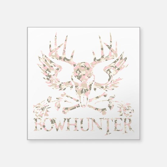 "GIRL BOWHUNTER Square Sticker 3"" x 3"""