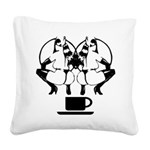 2girls1cupblk Square Canvas Pillow