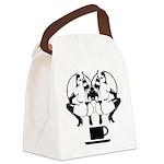 2girls1cupblk Canvas Lunch Bag