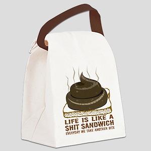 shitsandwich Canvas Lunch Bag