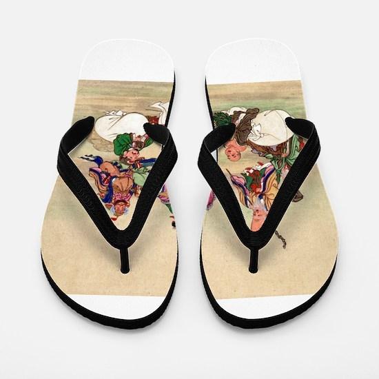 Seven gods of good luck - Anon - 1878 Flip Flops