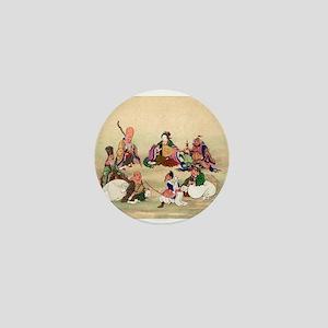 Seven gods of good luck - Anon - 1878 Mini Button