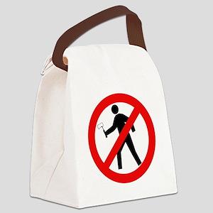 nomoreaxmurderersblk Canvas Lunch Bag