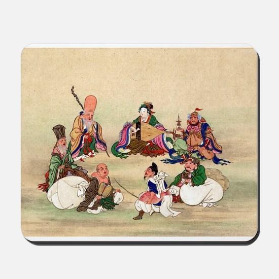 Seven gods of good luck - Anon - 1878 Mousepad